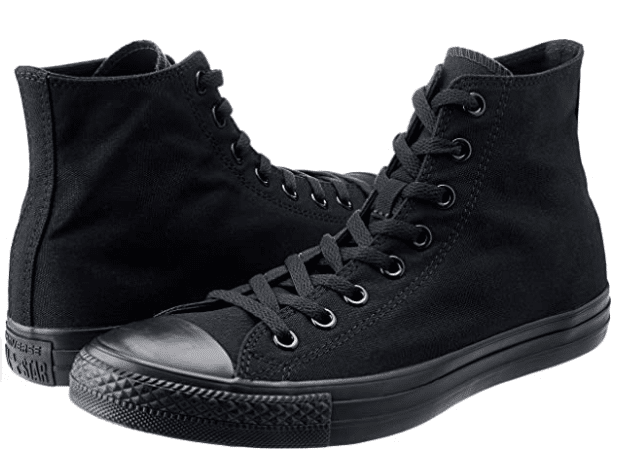 Converse all star black platform high top sneakers