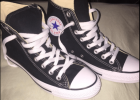 Converse all star black platform high top sneakers